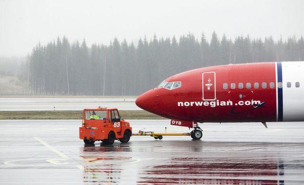 Norwegianin lennot Helsingin ja Nizzan välillä ovat myöhässä. Kuvituskuva.
