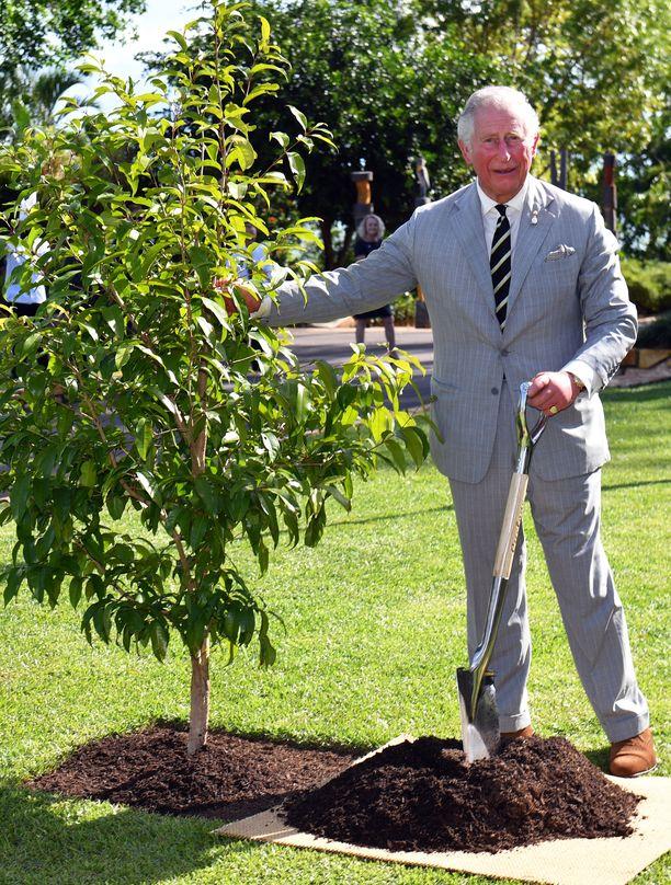 Vuonna 2018 prinssi Charles istutti puun Australian-matkallaan.