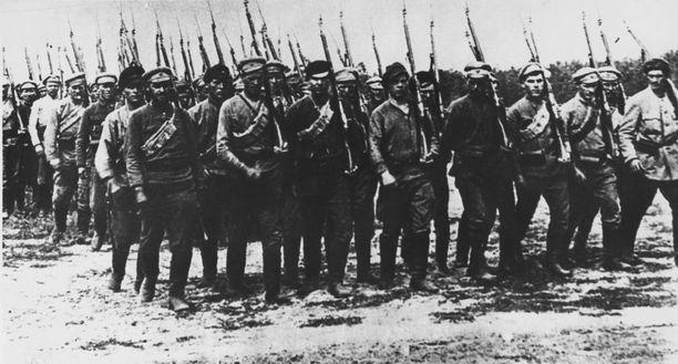 Puna-armeijan sotilaita Venäjän sisällissodassa vuonna 1920.