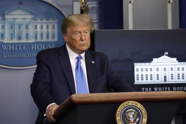 Osa Trumpin puheista koronaan liittyen on tuomittu virheelliseksi informaatioksi.