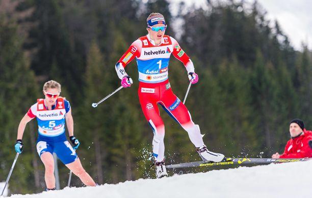 Ingvild Flugstad Östberg mitalimäärällä mitattuna Seefeldin kuningatar. Hän voitti niitä peräti viisi.
