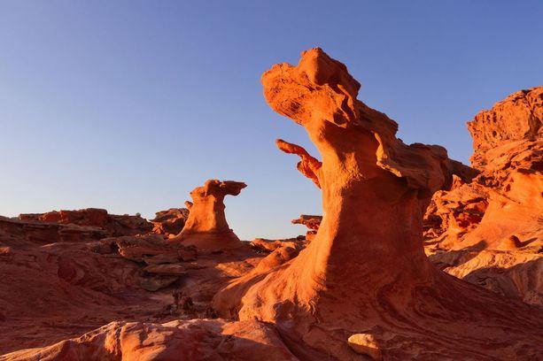 Nevadan Little Finlandin kalliomuodostelmat ovat kaukana suomalaismaisemista.