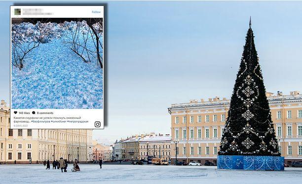 Lumen värin muuttanut aine ei Pietarin ympäristökeskuksen mukaan aiheuttanut ympäristöuhkaa. Kuvituskuva.