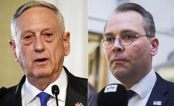 Suomen puolustusministeri Jussi Niinistö esitti Suomen, Yhdysvaltain ja Ruotsin puolustusministereiden tapaamisessa Helsingissä kutsun Yhdysvalloille sotaharjoitukseen osallistumisesta. James Mattis ei vielä tänään ottanut asiaan sen tarkemmin kantaa.