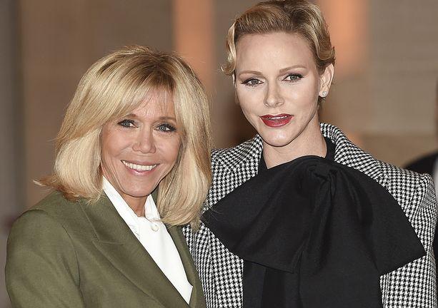 Brigitte Macron ja ruhtinatar Charlene nauttivat lounasta yhdessä 11.11.