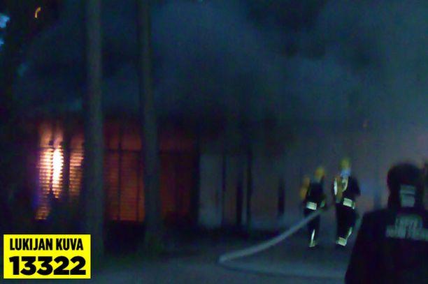 Tulipalo syttyi perjantai-iltana.