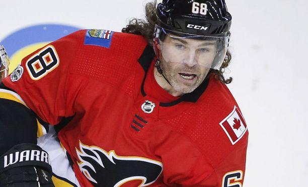Jaromir Jagrin tavaramerkiksi muodostunut takatukka hulmuaa NHL:ssä suurella todennäköisyydellä viimeistä kautta.