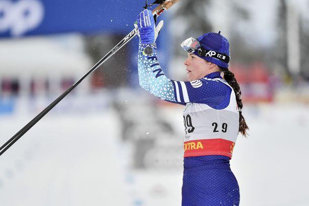 Krista Pärmäkoski oli viides Oberstdorfissa.