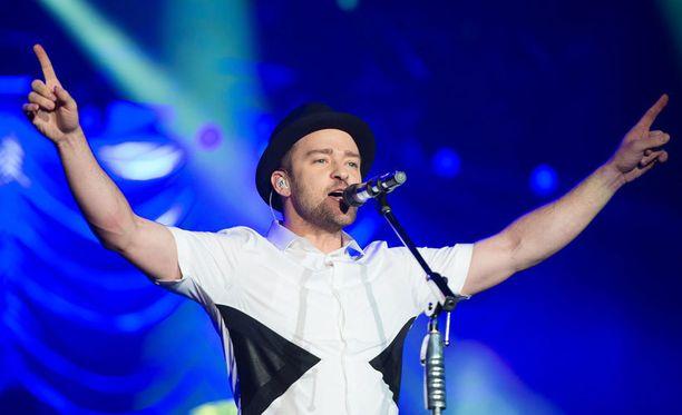 Justin Timberlake konsertoi keväällä Hartwall Areenalla.