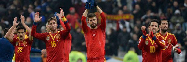 Espanjan tähdet kiittivät fanejaan kannustuksesta.