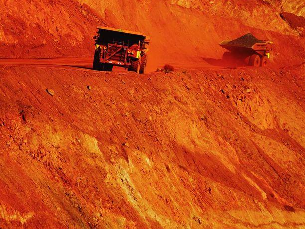 BHP:lla on Australiassa valtavia kaivoksia.