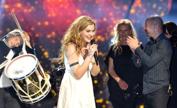Tanskan edustaja Emmelie de Forest voitti euroviisut tänä vuonna.