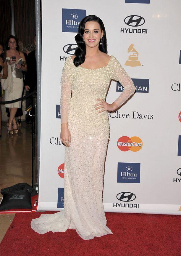 Poptähti Katy Perry Grammy-gaalan esijuhlissa.