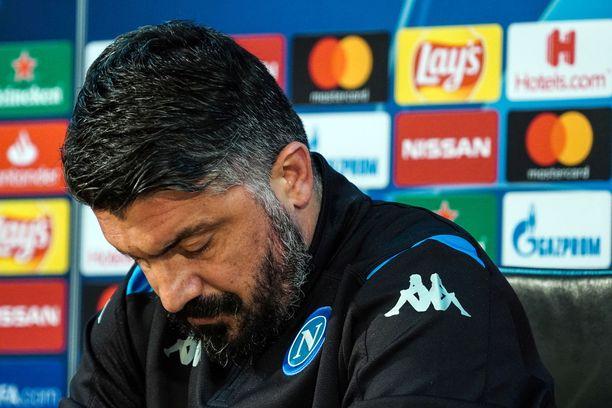 Gennaro Gattuso valmentaa tätä nykyä Napolia.
