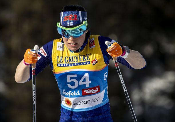 Krista Pärmäkoski on tällä kaudella noussut vain kerran palkintokorokkeelle maailmanluokan kilpailuissa.