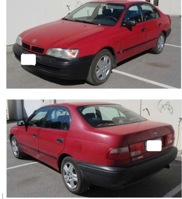 Tältä epäiltyjen mahdollisesti käyttämä auto näyttää.