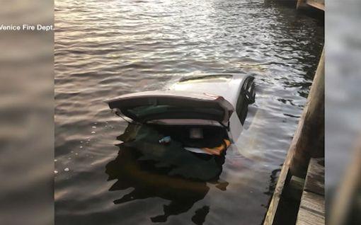 Video: Meloja törmäsi erikoiseen näkyyn Yhdysvalloissa - Uponneesta autosta pilkotti käsi