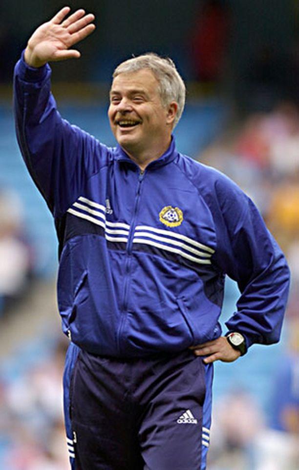Päävalmentaja Michael Käldin sopimus loppuu tänä vuonna. Kuva vuoden 2005 EM-kisoista.