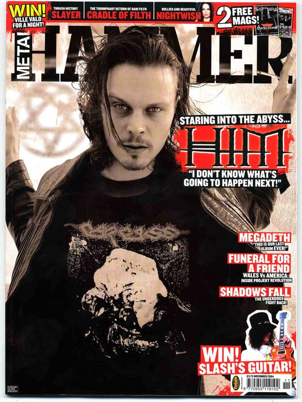Ville Valo Metal Hammer -lehden kannessa vuonna 2004.