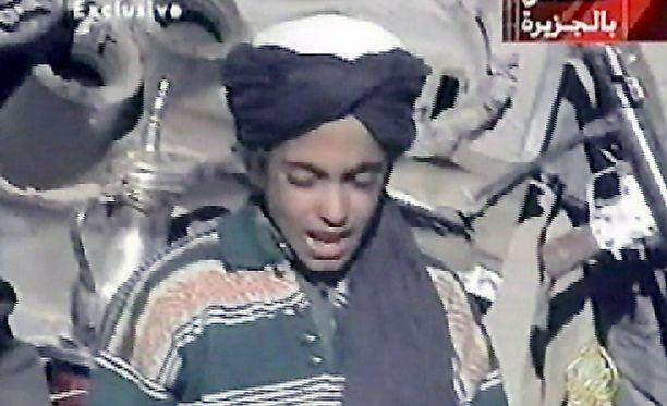 Tämä on yksi harvoista Hamza bin Ladenista otetuista kuvista. Kuva on vuodelta 2001 Afganistanista.