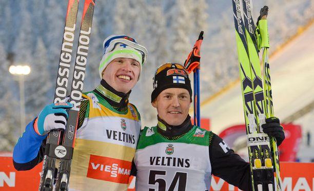 Olympiavoittajat kotikisoissa. Iivo Niskanen kuuluu Suomen ykköstoivoihin, ja Sami Jauhojärvi hakee Lahden laduilta kruunua komealle uralleen.