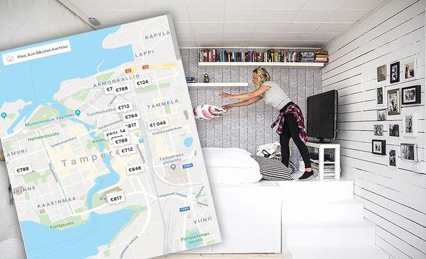 Airbnb-sivuston perusteella vilkas viikonloppu on nostanut vuokrattavien asuntojen hinnat pilviin Tampereella.