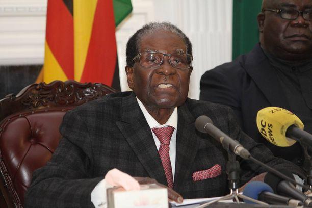 Mugabe hallitsi Zimbabwea heti maan itsenäistymisen jälkeen. Kuva vuodelta 2017.