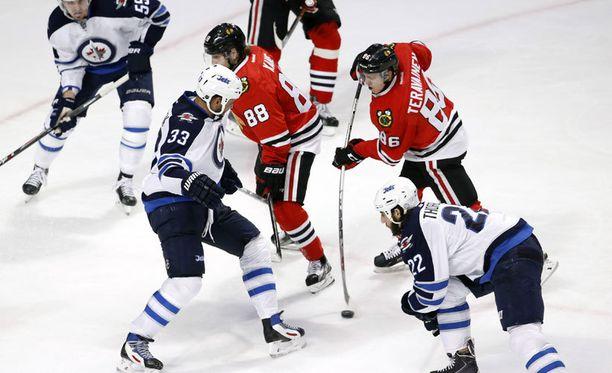 Näin syntyi Teuvo Teräväisen ensimmäinen NHL-maali.