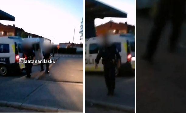Hämeen poliisilaitoksen mukaan se selvittää, mitä oheisella videolla on tapahtunut.