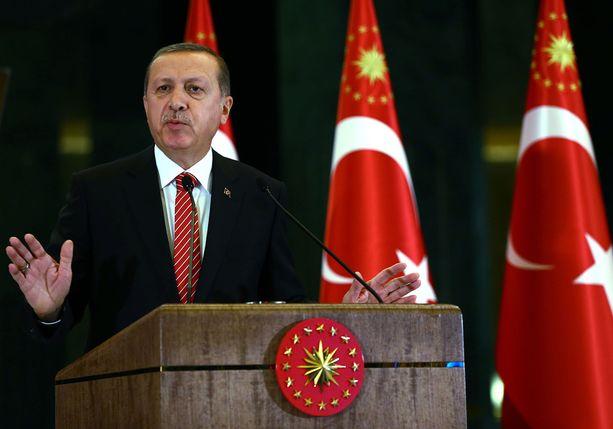 Erdogan haluaa, ettei tilanne Venäjän kanssa kärjisty. Kuva tiistailta.