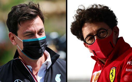"""Ferrari ja Mercedes rajussa sanasodassa – """"Taas täyttä paskaa"""""""