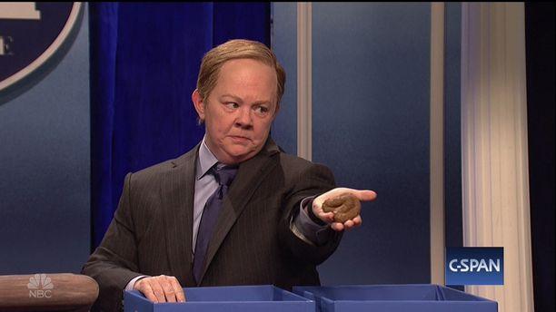 McCarthyn esittämä Sean Spicer on esikuvansa tavoin räjähdysaltis hahmo.