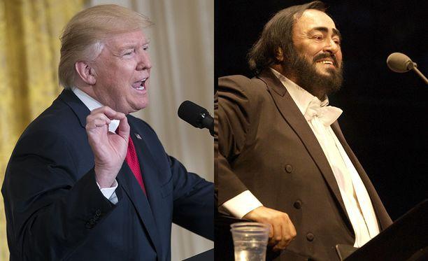 Donald Trump ja Luciano Pavarotti, ystävykset.