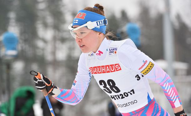 Kerttu Niskanen oli perinteisen kympin paras suomalaisnainen kuudennella sijallaan.