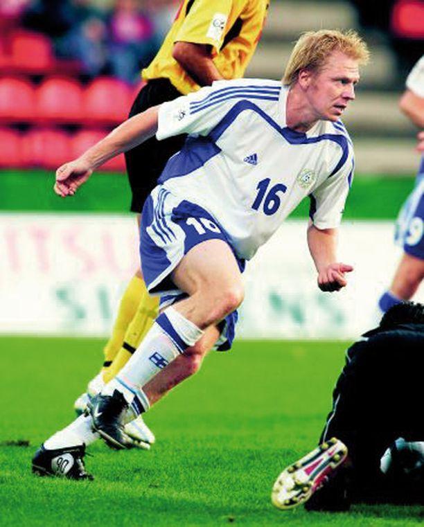 TAISTELIJA Aki Riihilahti tekee säännöllisesti maaleja maajoukkueessa.