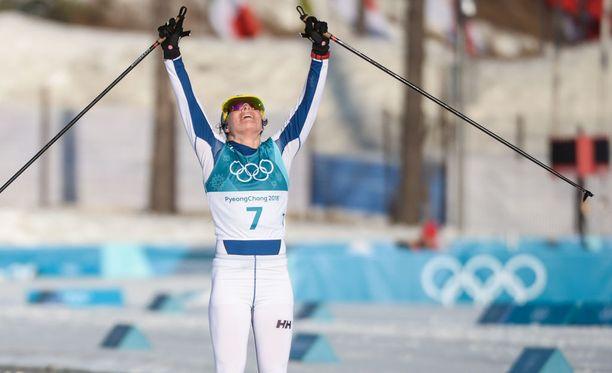 Kolmen olympiamitalin Krista Pärmäkoski kertoi, että loppujen lopuksi matka huipulle on ollut hienompi kuin yksittäiset päämäärät.