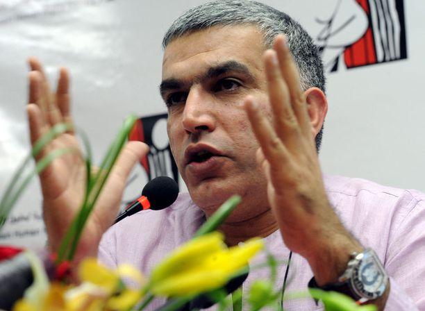 Nabeel Rajab istuu jo kahden vuoden tuomiota.