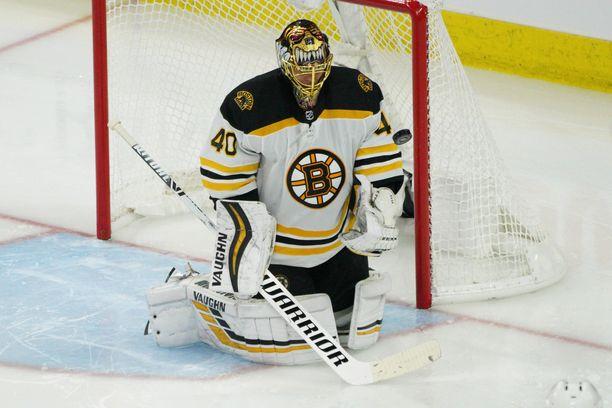 Ottelussa maalinsa puhtaana pitänyt Tuukka Rask on ollut yksi Bruinsin tärkeimmistä pelaajista.