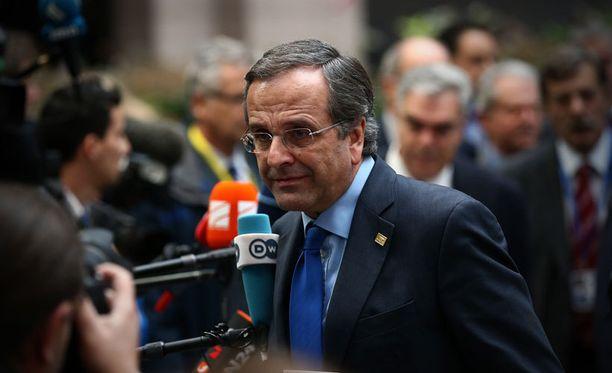 """Kreikan pääministeri Antonis Samaraksen mukaan hänen hallituksensa on valmis neuvottelemaan """"ennaltaehkäisevästä luototuksesta""""."""