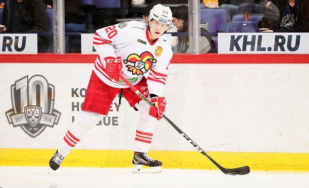 Eeli Tolvanen on pelannut 47 KHL-ottelua ja kerännyt niissä 34 (17+17) tehopistettä.