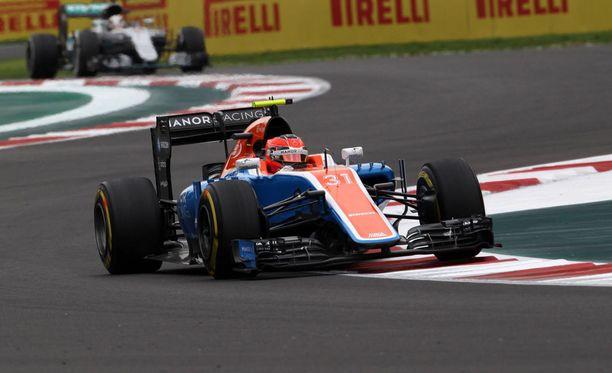 Esteban Ocon ajoi viime kaudella yhdeksän GP:tä Manorilla. Paras sijoitus oli 12:s.