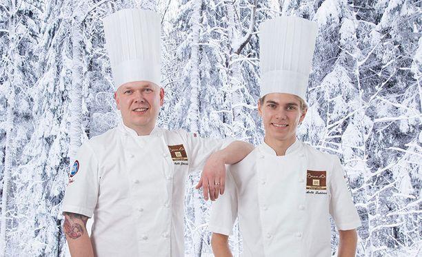 Voittoisa kaksikko Matti Jämsén ja antti Lukkari