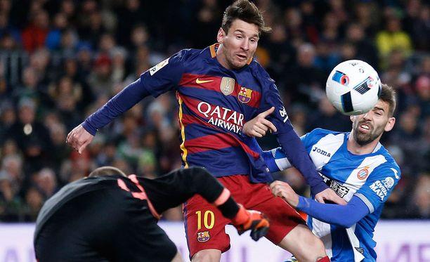 Leo Messi kurmuutti Espanyolia kahdella maalilla ja kahdella maalisyötöllä.
