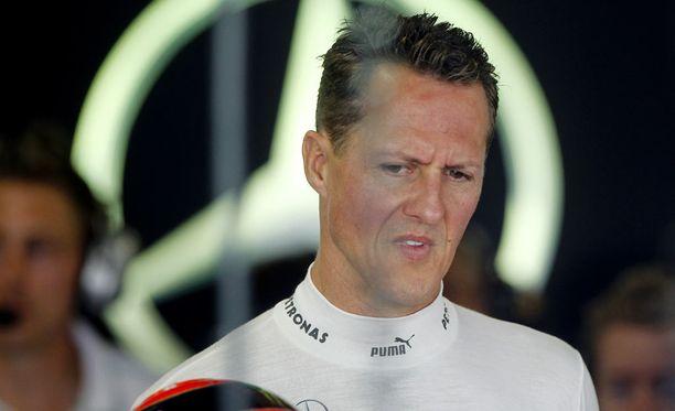 Michael Schumacher ajoi viimeisen F1-kautensa Mercedeksellä 2012.