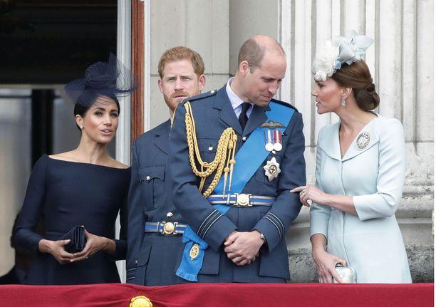 Tämän nelikon eli herttuatar Meghanin, prinssi Harryn, prinssi Williamin ja herttuatar Catherinen välit tuskin tulevat enää palautumaan ennalleen.