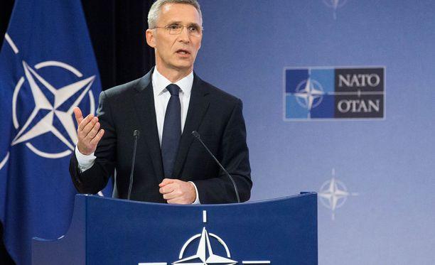 Kuvassa Naton pääsihteeri Jens Stoltenberg.