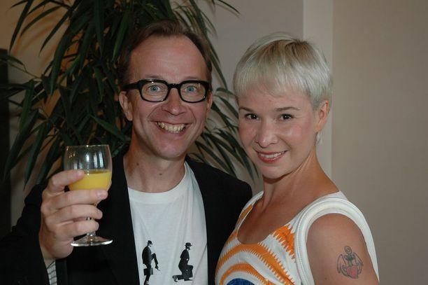 Vuonna 2010 Rosa Meriläinen ja Simo Frangén Porin Jazz -tunnelmissa.