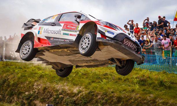 WRC-debyytissään Portugalissa Lappi loikkasi komeasti.