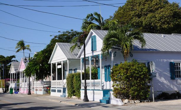 Key Westin perinteisiä puurakennuksia.