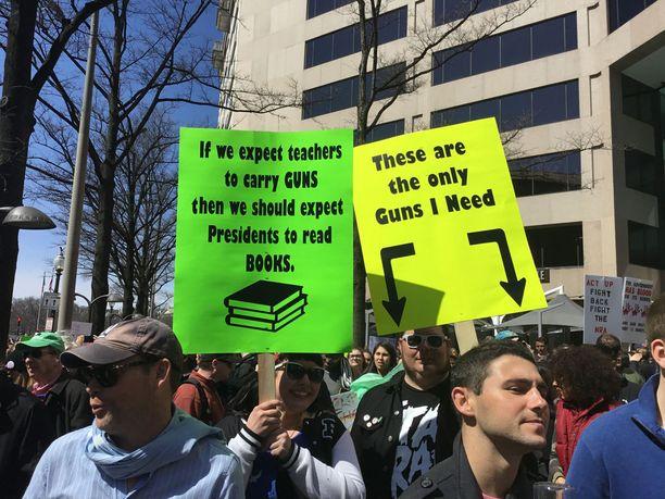 Marssi Washingtonin keskustassa ei ollut oikeastaan marssi valtavan ihmismäärän vuoksi.